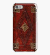 Ancient Medieval Style Book Cover Design iPhone Case/Skin