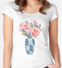 Vase Illustration Women's Fitted Scoop T-Shirt