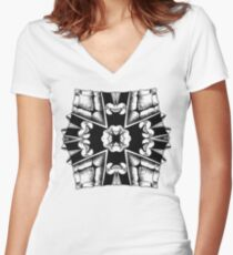 Turtle Shield of Spiking Women's Fitted V-Neck T-Shirt