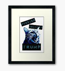 Pussies Against Trump Impact Framed Print