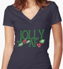 Jolly AF Women's Fitted V-Neck T-Shirt