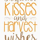 Sonnenblume-Küsse u. Ernte-Wünsche von kjanedesigns