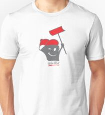 Shoveling Wis-Kid (red) Unisex T-Shirt