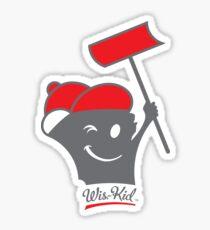 Shoveling Wis-Kid (red) Sticker