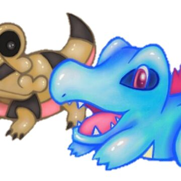Best Buds (Sandile and Totodile) by ninjasTopHat