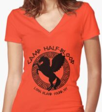 camp half blood Women's Fitted V-Neck T-Shirt