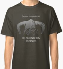 Skyrim | Dragonborn Business Classic T-Shirt