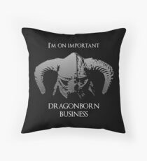 Skyrim | Dragonborn Business Throw Pillow