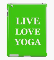 LIVE LOVE YOGA green iPad Case/Skin