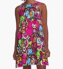 Party Food Fashion - Kawaii doodles by LeahG A-Line Dress