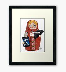 Katya Zamolodchikova Russian Doll Framed Print