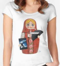 Katya Zamolodchikova Russian Doll Women's Fitted Scoop T-Shirt