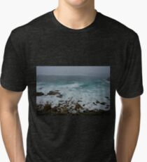 Unsettled Waters at Sennen Cove Tri-blend T-Shirt
