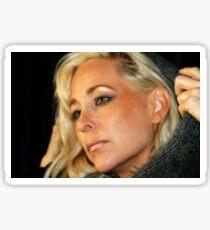 Blond Woman Sticker