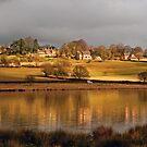 Dry Stoke village across Eyebrook water by almaalice