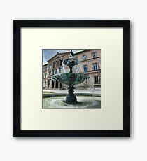 Neue Aula Fountain, Tübingen, Germany Framed Print