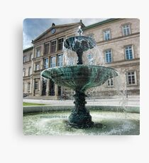 Neue Aula Fountain, Tübingen, Germany Metal Print