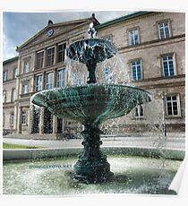 Neue Aula Fountain, Tübingen, Germany Poster