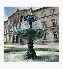 Neue Aula Fountain, Tübingen, Germany Photographic Print