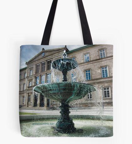 Neue Aula Fountain, Tübingen, Germany Tote Bag