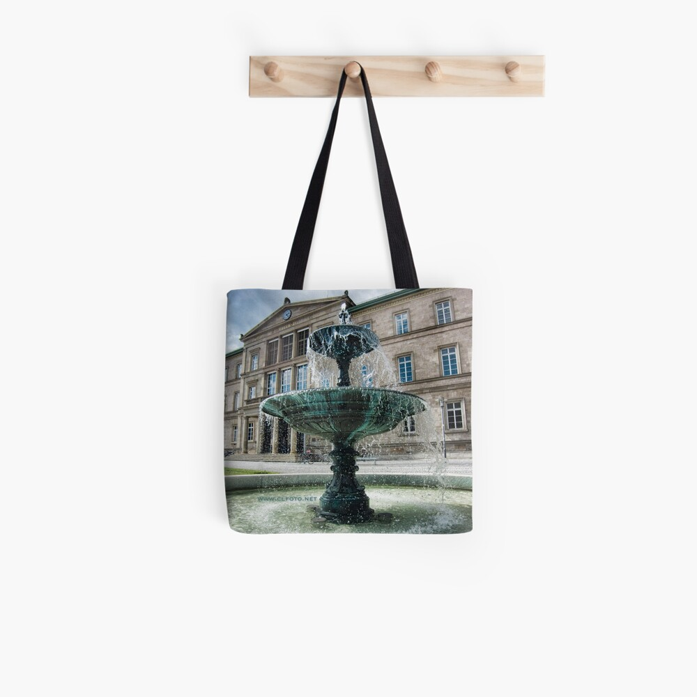 Neue Aula Fountain, Tübingen, Germany Tote Bag