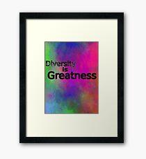 Lámina enmarcada Diversity is Greatness multicolor