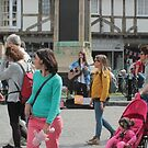 Tourists in Canterbury by rsangsterkelly