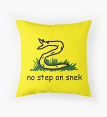 No Step on Snek Throw Pillow
