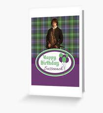 Jamie birthday plaid Greeting Card