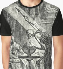 18th C. Visit from the Grim Reaper  Graphic T-Shirt