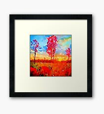hand painted, fall trees, fall colours,water color,modern,trendy,beautiful Framed Print