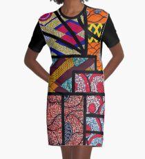 African print Graphic T-Shirt Dress