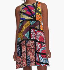 Vestido acampanado Impresión africana