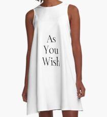 As You Wish A-Line Dress
