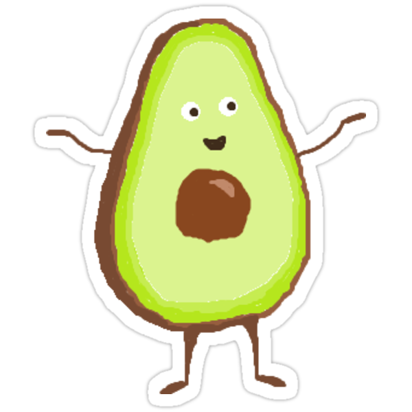 Quot Little Avocado Quot Stickers By Jemimas123 Redbubble