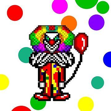 Pixel Clown Case #1 by shadowinkdesign