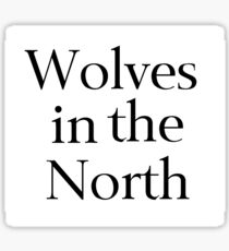 Wolves in the North Sticker