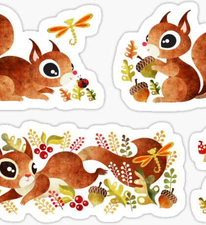 Playful Squirrel Sticker