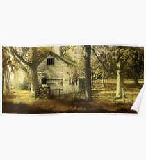 Autumn Treads Gently Around the Old Barn Poster