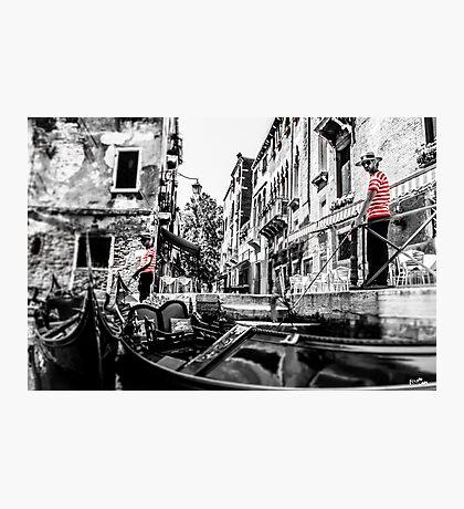 Gondoliers Photographic Print