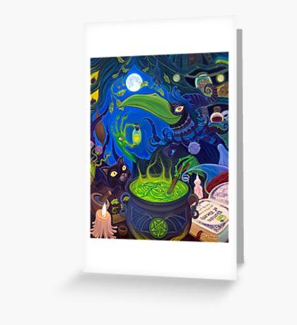 Dark Witch Greeting Card