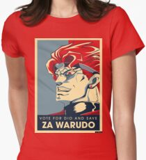 Vote for ZA WARUDO! Womens Fitted T-Shirt