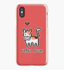 8 bit retro kitty iPhone Case/Skin