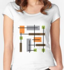 Cubicle Atomic Era Art Women's Fitted Scoop T-Shirt
