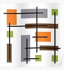 Cubicle Atomic Era Art Poster