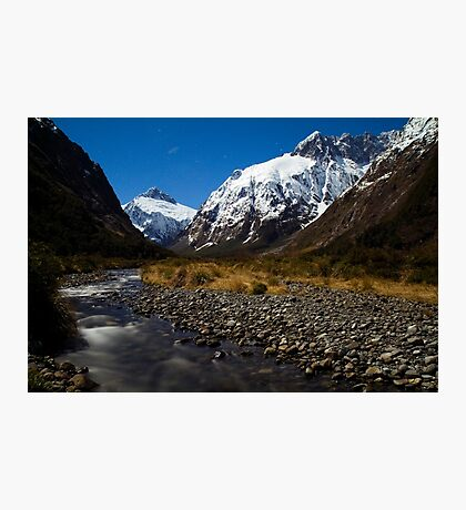 Upper Hollyford Valley, Fiordland National Park, at night Photographic Print