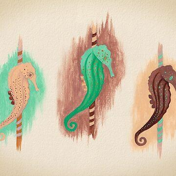 Sandy Seahorses by AlexMathews