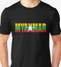 Myanmar Flag Unisex T-Shirt