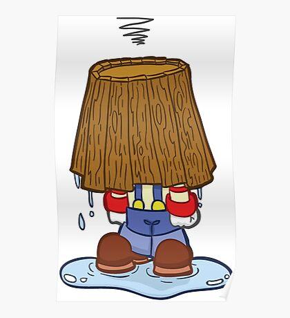 HeinyR- Clown Bucket Head Poster