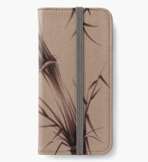 """As One""  Original brush pen sumi-e bamboo drawing/painting iPhone Wallet/Case/Skin"